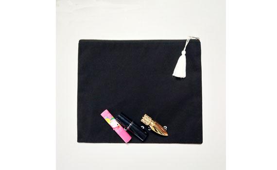 Black Zip Pouch