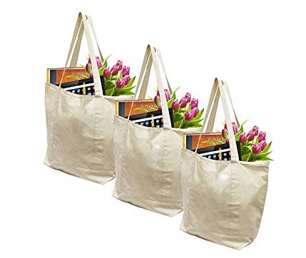 Custom canvas grocery bags